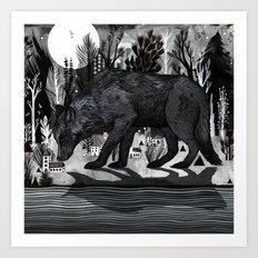 Black Shuck Art Print