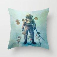 Deep Sea Garden  Throw Pillow