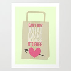 can't buy Art Print