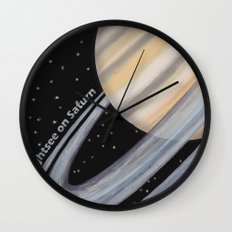 Sightsee On Saturn Wall Clock