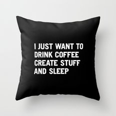 I Just Want To Drink Cof… Throw Pillow