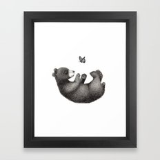 Rolling bear Framed Art Print