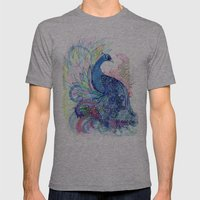 Blue Wild Mens Fitted Tee Athletic Grey SMALL