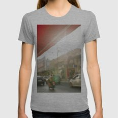 Red Womens Fitted Tee Athletic Grey SMALL