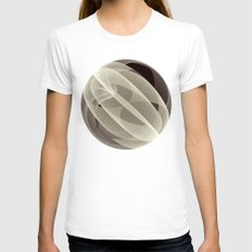 Modern Magic 3D Sphere Womens Fitted Tee White SMALL