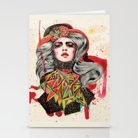 woman Stationery Cards featuring Woman by Felicia Atanasiu