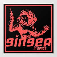 Ginger In Space Canvas Print