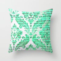 Urban Emerald Throw Pillow