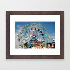 Wonder Wheel Framed Art Print