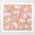 Picasso Cats Art Print
