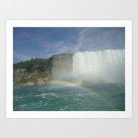 Rainbows of Niagara Falls Art Print