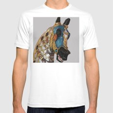 Carousel Horse 2 Mens Fitted Tee White SMALL