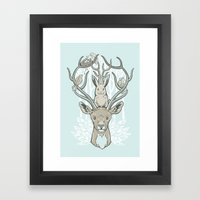 Friends & Birds Framed Art Print