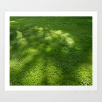 green green grass of home Art Print