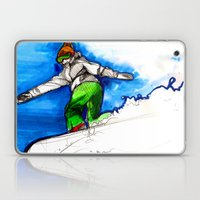 Snowboarder Girl Laptop & iPad Skin