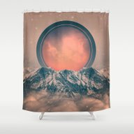 Shower Curtain featuring Rise Again (Solar Eclips… by Soaring Anchor Desig…