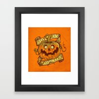 Halloween Orange Framed Art Print
