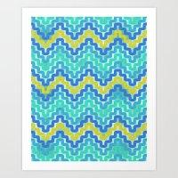 Rick Rack Ocean Art Print