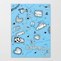 Vehicle Doodle (: Canvas Print