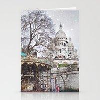 Paris, Montmartre Stationery Cards