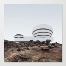 Misplaced Series - Solomon R Guggenheim Museum Canvas Print