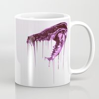 Painted Skull Purple Mug