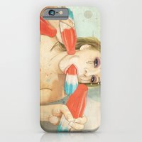 girl iPhone & iPod Cases featuring Bombs Away by keith p. rein