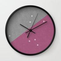 Concrete & Dots Wall Clock