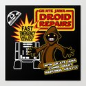 Gr'Ate Jawa Droid Repairs Canvas Print