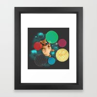 A PLAYFUL DAY Framed Art Print
