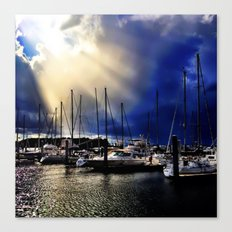 Sky Opening to Sailboats Canvas Print