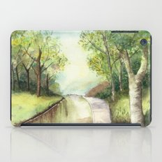 Trees by the canal iPad Case