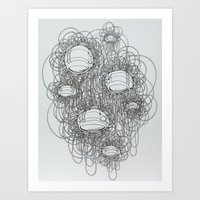 Art Print featuring New Line Drawing by Charles Clary