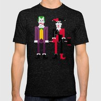 Joker and Harley Quinn Mens Fitted Tee Tri-Black SMALL