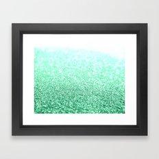 Green Glitter Framed Art Print