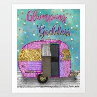 Glamping Goddess Art Print