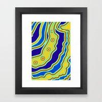 Blue Flow Framed Art Print