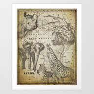 Art Print featuring Out Of Africa by LebensART