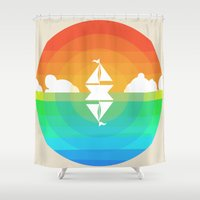 Sunset Sailing Shower Curtain