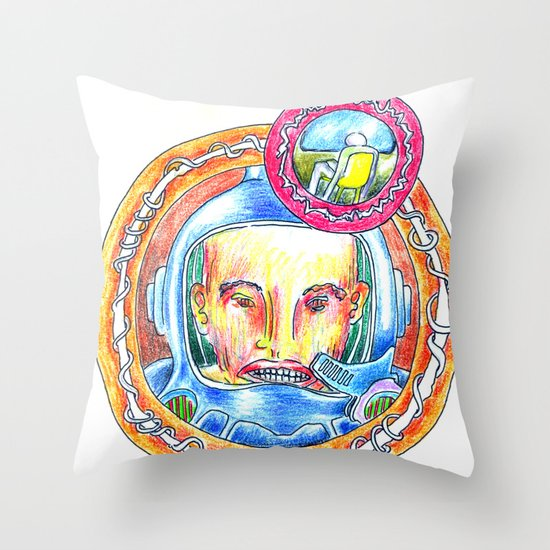 Astroteque. Throw Pillow