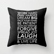 Work Pray Dream Throw Pillow
