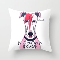 Diamonds Dogs Throw Pillow