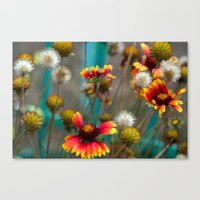 Fiery Flowers Canvas Print