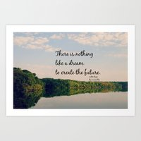 Dream to Create the Future Les Miserables Quote Art Print