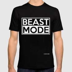 BEAST MODE Black Mens Fitted Tee SMALL