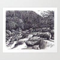 Black and White 6 Art Print