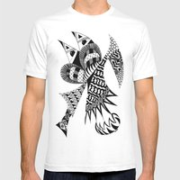 Ubiquitous Bird Mens Fitted Tee White SMALL