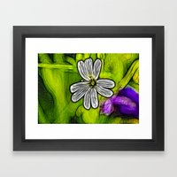 Fractal Stitchwort Framed Art Print