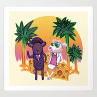 Miami Mice Art Print