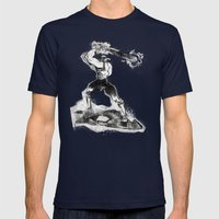The Designated Slugger  Mens Fitted Tee Navy SMALL